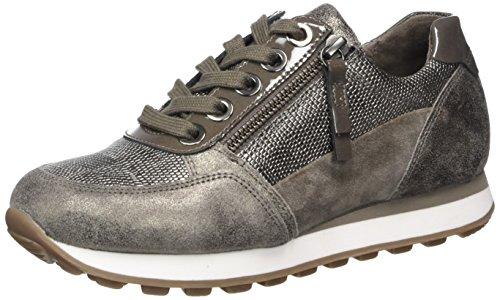 Gabor Shoes Comfort Basic, Derbys Femme Gris (Argento/fango K.)
