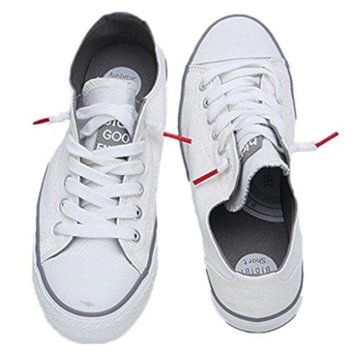 SHFANG Lady Shoes Summer Classico Canvas Scarpe Movimento Tempo libero Studenti confortevoli Scuola Shopping Tre colori White