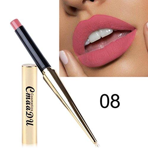 12 Farben Lippenstift Huihong Damen Wasserdicht Matt Kürbis Farbe Essen Erde Reich Vitamin E Neue Mode Lippenstift Lipgloss (08)