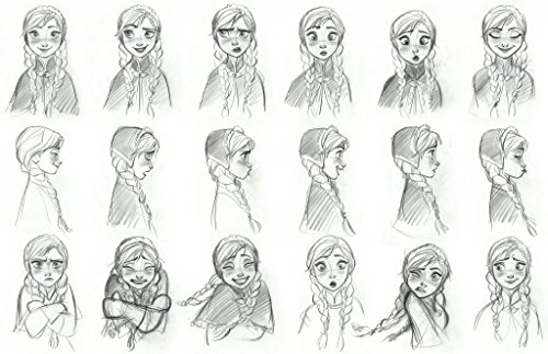 Disney Frozen - Anna - Concept Art Sketch - U.S Imported Wall Poster Print - 43cm x 61cm / 17 Inches x 24 Inches A2