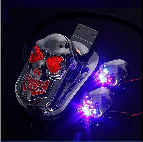 otorrad quad - bremse hinten auf integrierte blinker blinker schwanz indicator light für harley - sportster dyna glide custom cruiser köder versucht hubschrauber ()