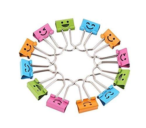10 Pcs x CAOLATOR Clip Creativo de Sonrisa Linda,Clip de entradas, Clip de Archivos,Clip de Papel
