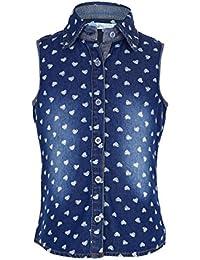 bd8b547d51f Amazon.in: Denim - Tops, T-Shirts & Shirts / Girls: Clothing ...