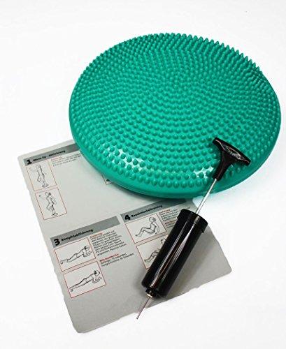 Balance Sitzkissen inkl. Luftpumpe + Traningsanleitung (Grün (Mint))