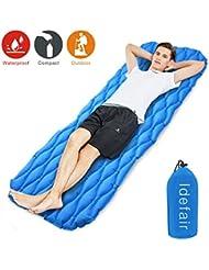Idefair Materassino gonfiabile, ultraleggero materassini materassino con materasso impermeabile Air per la casa tende hiking Backpacking campeggio viaggi amaca spiaggia (blu)
