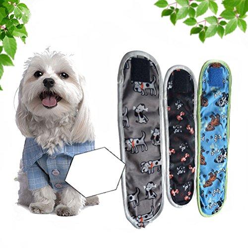 3pcs wiederverwendbaren Hund Windeln und Bauchbanden für kleine -