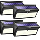 Luposwiten 100 LED Solarlampen für Außen mit Bewegungsmelder,2000LM Wasserdicht Solarleuchten Aussenbeleuchtung Solarlichter für Garten, Terrassen, Wand,Flur,Treppen,Hof,Einfahrt,Gehwegen(4Stück)