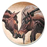 CounterArt Horse Kiss Absorbent Coasters, Set of 4 by CounterArt