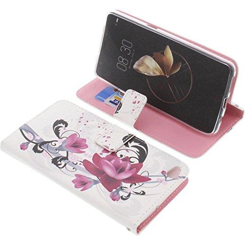 foto-kontor Tasche für Archos Diamond Gamma Book Style Lotus Blüte Schutz Hülle Buch