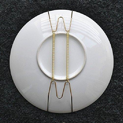 Vnfire 10 Stück 8-Zoll Tellerhalter Telleraufhänger Tellerspirale Wandtellerhalter Tellerwandhalter Aufhänger für Teller Ø 18-24 cm