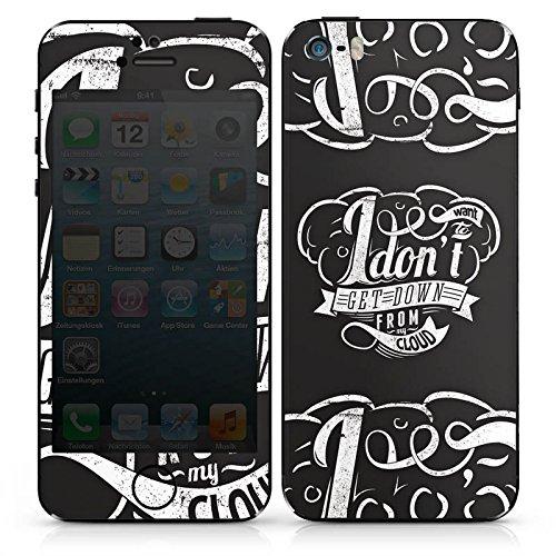 Apple iPhone 5s Case Skin Sticker aus Vinyl-Folie Aufkleber Cloud Statement Sprüche DesignSkins® glänzend