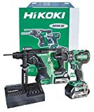 HiKOKI KC18DRBL Kit DV18DBSL + DH18DBL + 2 batterie 18 V 5 Ah + UC18YFSL + Valigetta Stackable