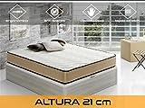 Relaxing - Confort Biovisconature 21 5.0 - Colchón viscoelástico y viscogel, 90 x 190 x 21 cm, Todas Las Medidas