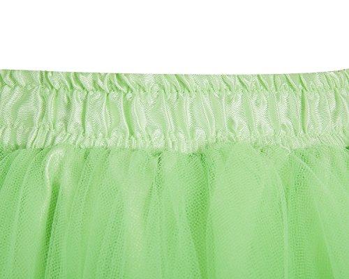 Bridesmay Tutu Damenrock Tüllrock 50er Kurz Ballet Tanzkleid Unterkleid Cosplay Crinoline Petticoat für Rockabilly Kleid Mint