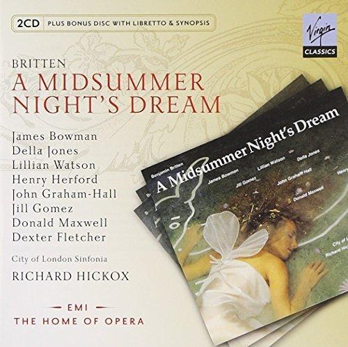 Britten: A Midsummer Night's Dream (with 1 libretto/synopsis disc) by Della Jones / Jill Gomez (2010-11-09)