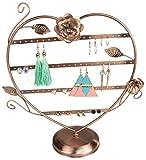 Soporte de joyería en forma de corazón - cobre rojo aproximadamente 35 x 32 x 12 cm - Almacenamiento y...