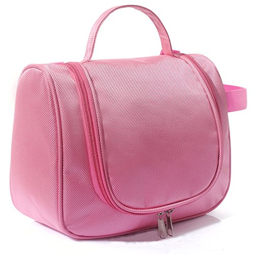 Vmore Women Toiletry Cosmetic Makeup Storage, Casual Hanging Bag Organizer (Light Pink)