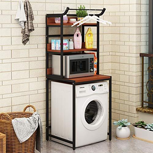 Rttzw ripiano per lavatrice cremagliera lavatrice in acciaio al carbonio balcone lavanderia mobile tamburo lavatrice ripiano superiore ripiano 3 strati (colore : c)