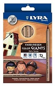 Lyra Color Giants skin tones - astuccio 12 pastelloni nei colori dei popoli