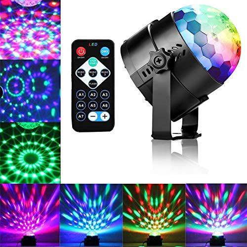 Discokugeln Lichteffekte Mini Crystal Bühne Leuchtet Ball Sound Aktiviert mit Fernbedienung Für Party DJ Clubs Karaoke Hochzeit Show Geburtstag Aktualisiert Version