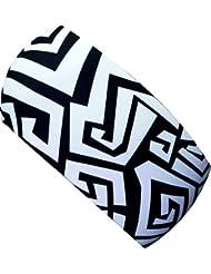 ekeko adultes fin bandeau Labyrinthe Noir/Blanc