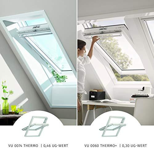 VELUX Dachfenster Schwingfenster Kunststoff Austauschfenster I VU0074 Thermo I Y85/085 I 113x124 cm