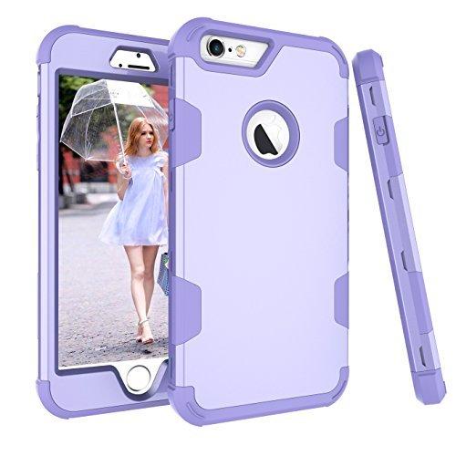 iPhone 6S Plus Fall, aoker iPhone 6Plus Case, Heavy Duty stoßfest [Perfect] Hard Kunststoff + weich Silikon Gummi Armor Defender Best Schutzhülle für iPhone 6S Plus und iPhone 6Plus, violett - Sechs Gelb Otterbox Iphone