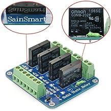 SainSmart - Tarjeta de relé de estado sólido (SSR) para robot Arduino UNO MEGA R3 Mega2560 Duemilanove Nano Robot (4 canales)