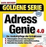 Adressgenie 4.0, 1 CD-ROM Die Kontaktpflege der Extraklasse. Für Windows 95C/98(SE)/ME/NT4/2000. Datenabgleich mit dem PalmPilot. Unterstützt die gängigen Telefon-CDs -