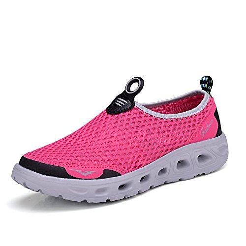 Scarpe da Ginnastica Sandali da Uomo e da Donna Sono Casual Traspirante Stile Leggero Scarpe da Corsa per Gli Amanti Scarpe da Acqua Scarpe Sportive (Color : Rosa, Dimensione : 42 EU)