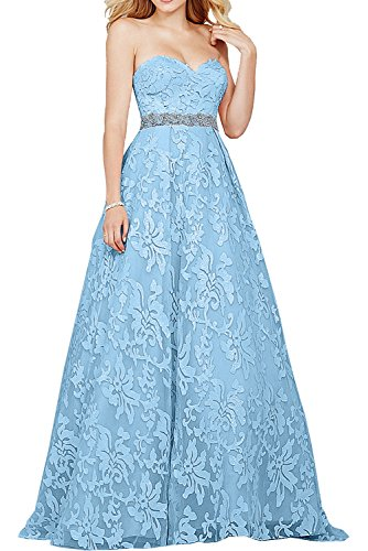 Milano Bride Elfenbein Damen Festlich Langes Abendkleider Herzausschnitt Promkleider Abschlussballkleider Ballkleider 2017 Neu Blau