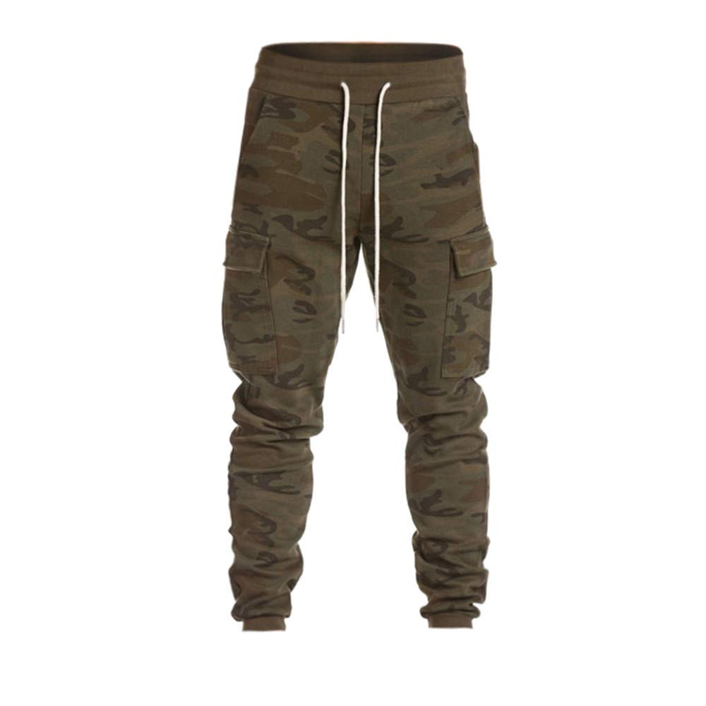 JiaMeng Hombre Pantalón Deportivo Harem Jogger Militar Camuflaje Estilo  Urbano Pantalones Casuales para ... c9cf9547711e