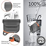 Moretek Airpods Waterproof IP67 Shock Resistant Cases Cover for Apple AirPods Charging Case (Grey 2)