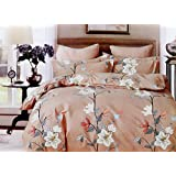 Ross Pringle King Size Premium Cotton Feel Branded Double Bed Sheet Set With 2 Pillow Covers By Kind Bliss - Modern Floral Collection, Designer Printed, Soft & Breathable 3Pc Luxury Bedding Combo Offer For Home & Hotel - Trendy Packed Bed Linen Fo