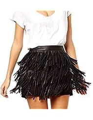 Mujer Moda Borla De La Verano De Vacaciones Minifalda FiestaFalda De Cintura Alta