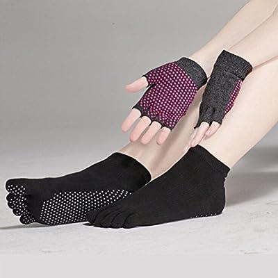 Pixnor Yoga Socken und Yoga-Handschuhe-Sets mit Silikon Punkten