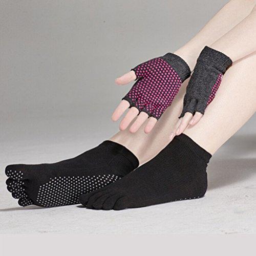 Pixnor Calcetines de yoga y Yoga juegos de guantes...