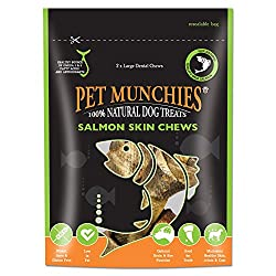 Large Salmon Skin Chews , 125 g : Pet Munchies Salmon Skin Chew, Large 125g(pack of 6)