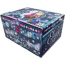 Frozen - Joyero personalizable para niñas, edición limitada, diseño de Frozen con mosaicos y gemas brillantes