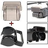 Flycoo Pack de 2: Capucha de lente antideslumbrante + Tapa de lente de cardán para DJI Spark Drone Cámara Gimbal de detección 3D Sistema de protección Accesorios (Negro)