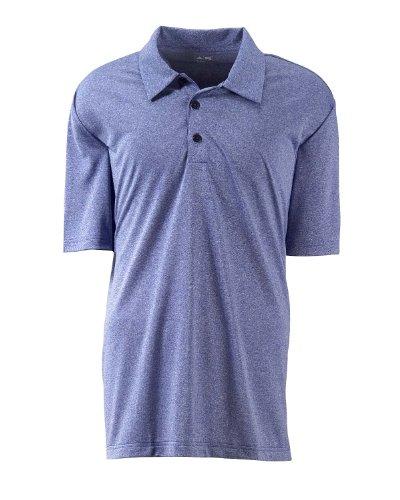 Adidas ClimaLite Heathered Polo–Matrix–S Blau - Cobalt Heather
