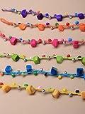ALANNAHS ACCESSORIES Girls Ladies Bead Shell Chip Cord Friendship Bracelet Assorted Designs Colours