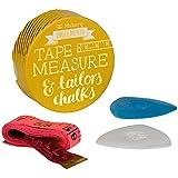 El Makery tizas y cinta métrica, multicolor