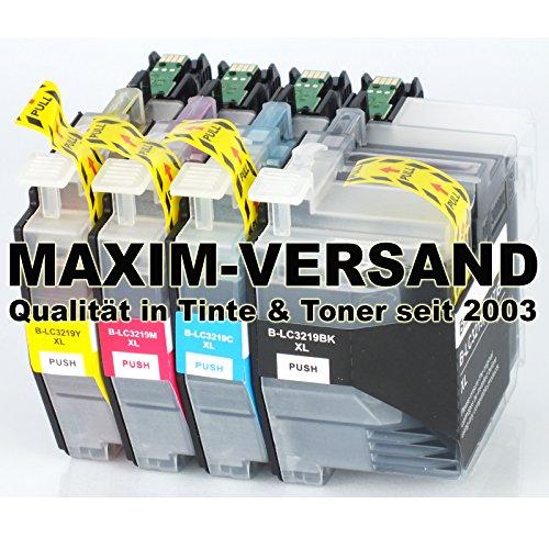 4 XL MAXIMPRINT Drucker-Patronen Set als Ersatz für Brother LC-3217-XL & LC-3219-XL Multipack mit Chips und Füllstandsanzeige
