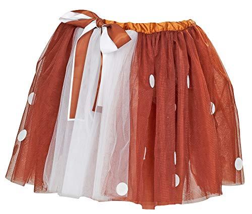 Reh Rentier Petticoat Tutu Rock - Braun - Romantischer Rock zum Kostüm Fasching Weihnachten Cosplay Animé Fotoshooting