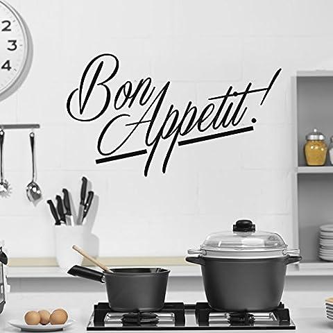 Art Bon Appetit Sticker Cuisine Wall Sticker disponible en 5 dimensions et 25 couleurs Très Petit Rouge Fraise