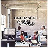 Sticker Mural Les Changements Que Vous Voulez Voir Dans Le Monde Sticker De Noël Pvc Vinyle Salon Chambre Maison Fenêtre Salle De Bains Bureau Dortoir Boutique Décor 58X28 Cm