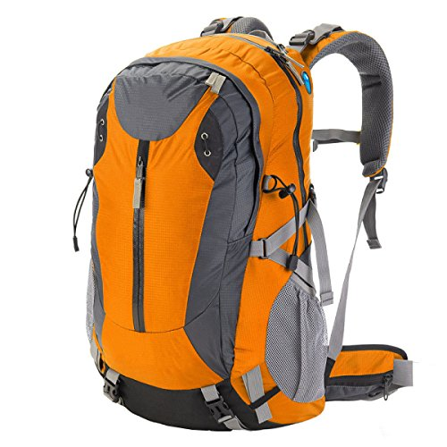 Zaino Da Viaggio All'aperto Borsa Da Montagna 40L Borsa A Tracolla Copertura A Pioggia Trekking All'aperto Campeggio Escursioni Zaino Multifunzionale. Multicolore Orange