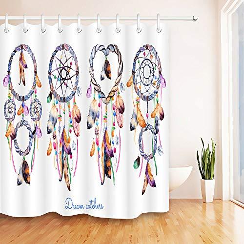 hdrjdrt Atrapasueños Cortina de Ducha decoración Impermeable Opaco Arte Creativo protección del Medio Ambiente tamaño 180x180cm