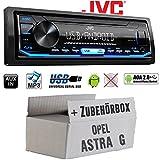 Opel Astra G - Autoradio Radio JVC KD-X151 | MP3 | USB | Android 4x50Watt - Einbauzubehör - Einbauset